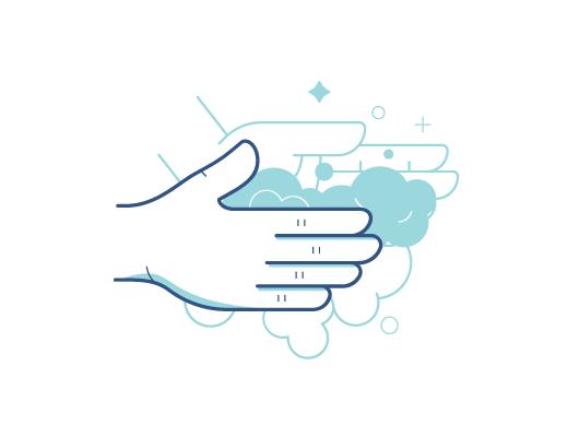 Att tvätta händerna innan beröring av linser.