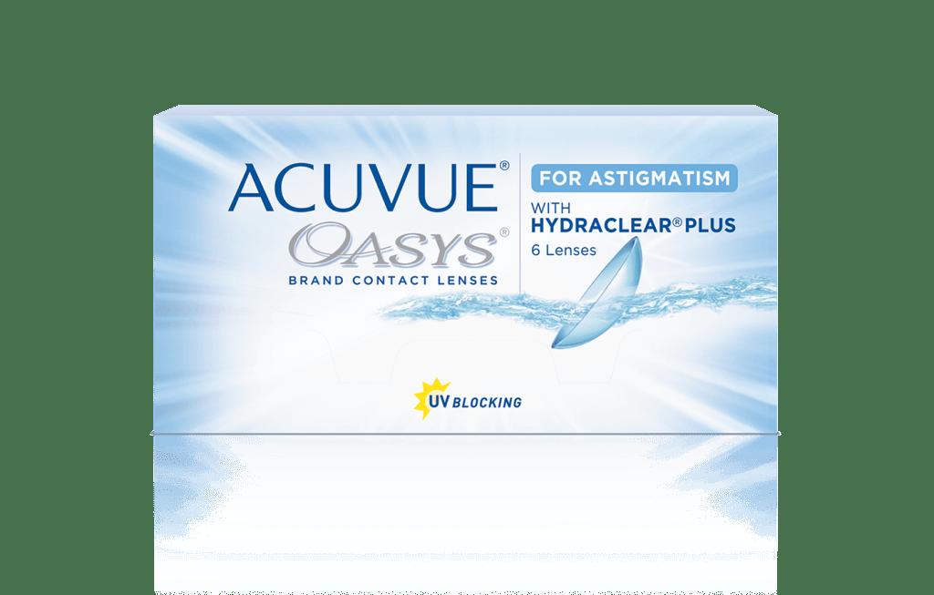 ACUVUE® OASYS för ASTIGMATISM med HYDRACLEAR® PLUS-teknologi tvåveckorslinser